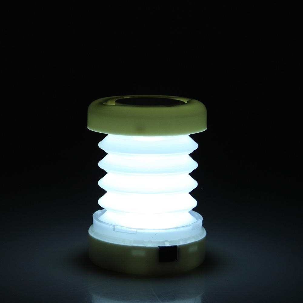 Led Outdoor Lanterns In Recent Retractable 5 Led Outdoor Camping Lantern Portable Mini Tent Light (View 13 of 20)