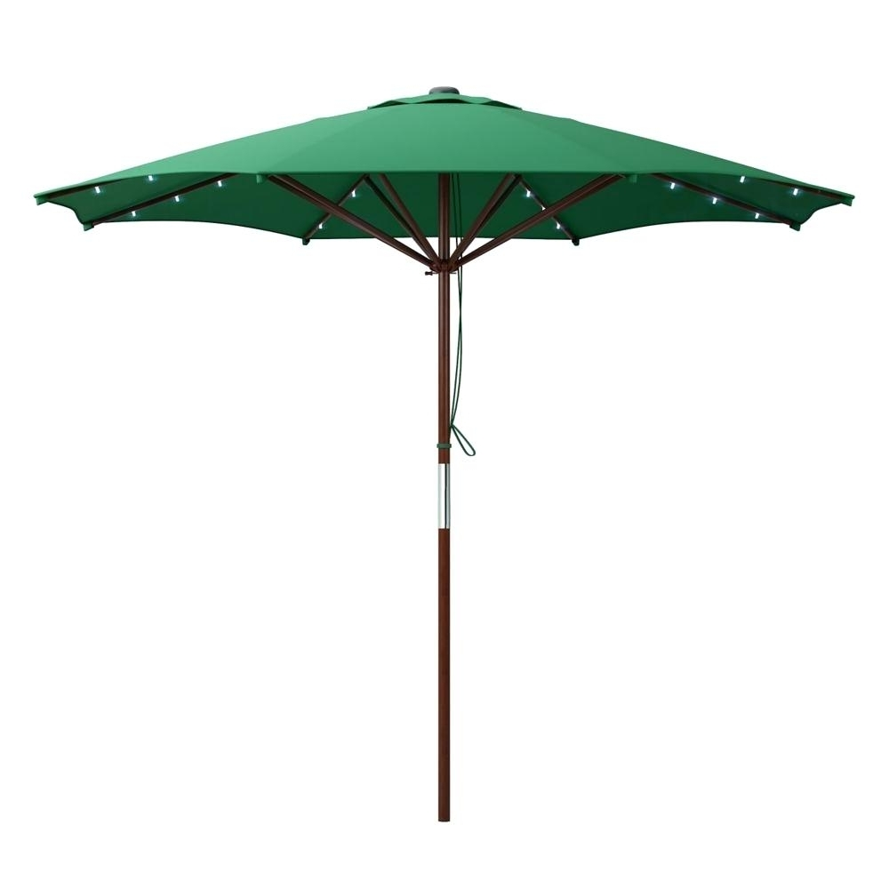 Led Patio Umbrella Home Depot – Home Design 2018 In Favorite Sunbrella Patio Umbrellas With Solar Lights (View 19 of 20)