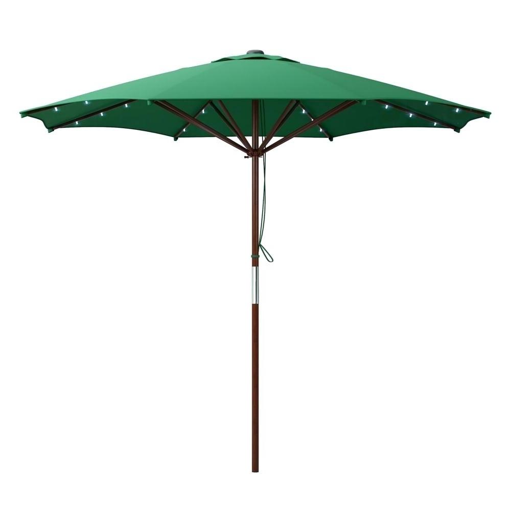 Led Patio Umbrella Home Depot – Home Design 2018 In Favorite Sunbrella Patio Umbrellas With Solar Lights (Gallery 19 of 20)