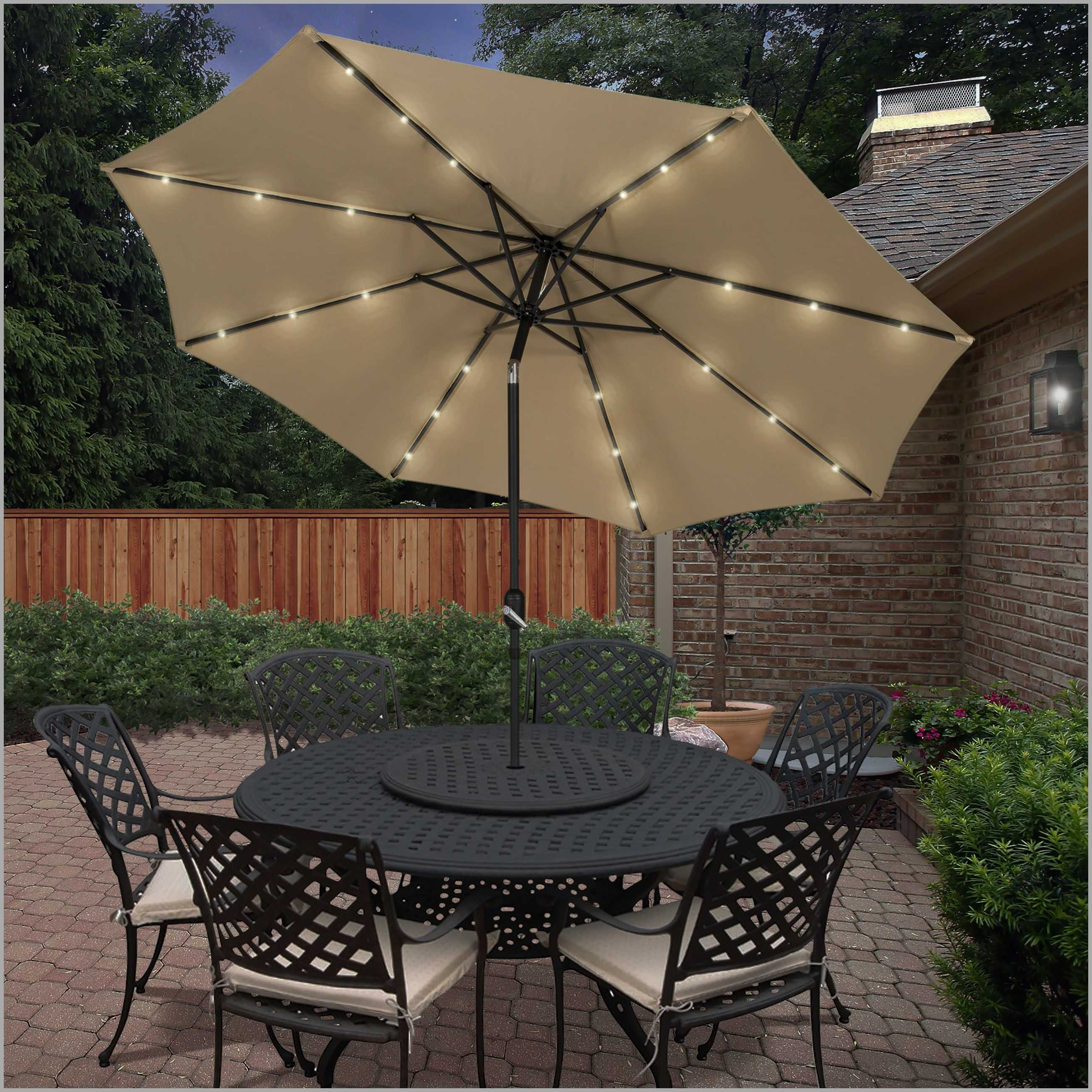 Lighted Patio Umbrellas Inside Famous Incredible Lighted Umbrella For Patio Collection Including Outdoor (Gallery 16 of 20)
