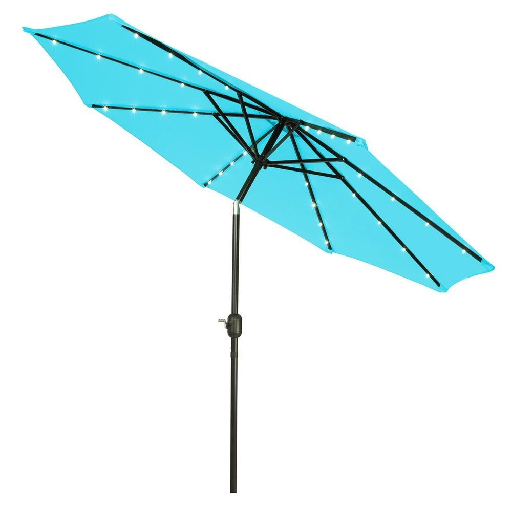 Lighted Umbrellas For Patio For Preferred Trademark Innovations 9 Ft (View 18 of 20)