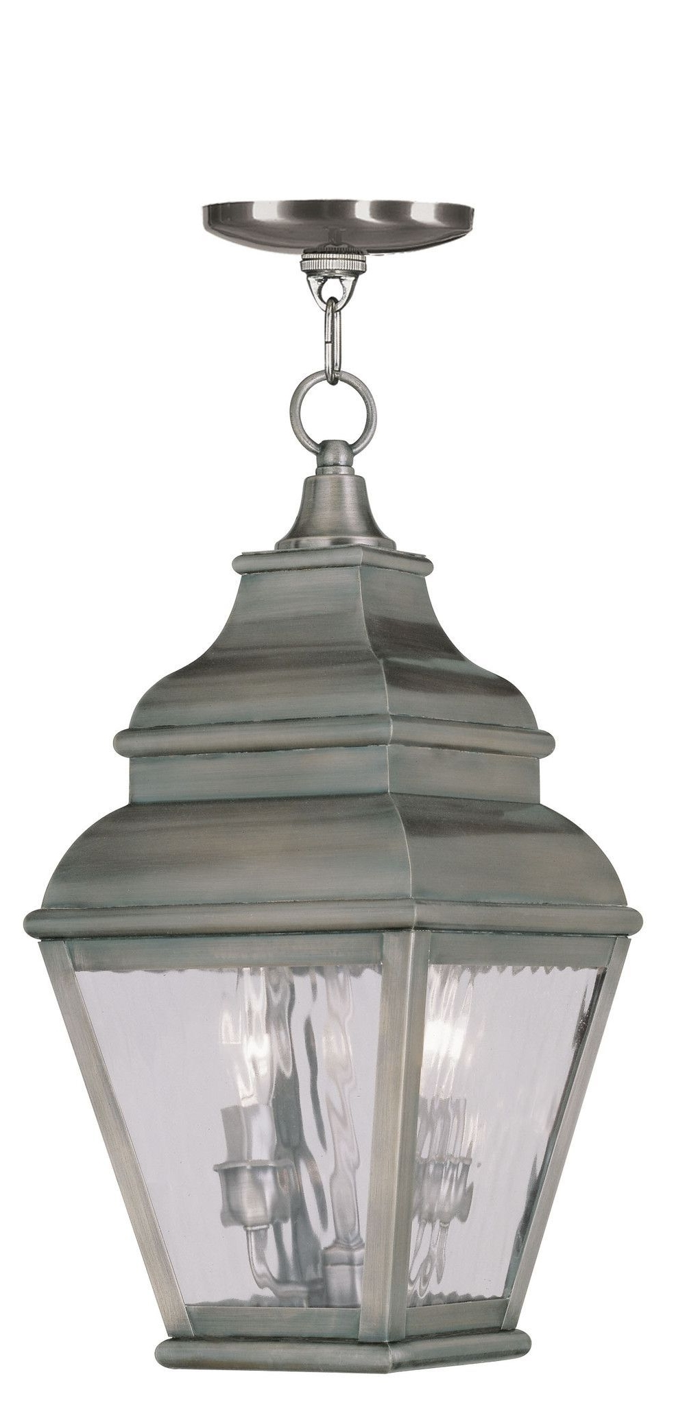 Livex Lighting Exeter Vintage Pewter Outdoor Chain Lantern 2604 29 In Best And Newest Vintage Outdoor Lanterns (View 9 of 20)