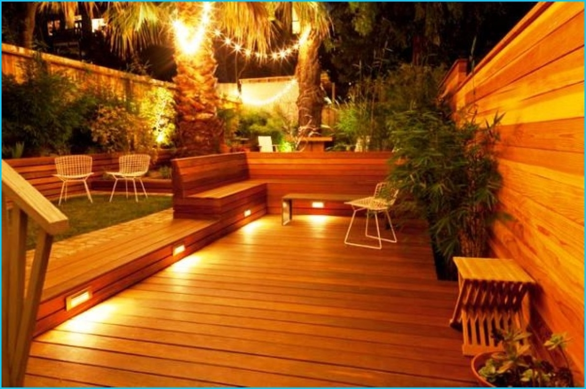 Low Voltage Led Outdoor Deck Lighting Ideas Cool 12 Volt Chaise Regarding Well Known Outdoor Deck Lanterns (Gallery 11 of 20)