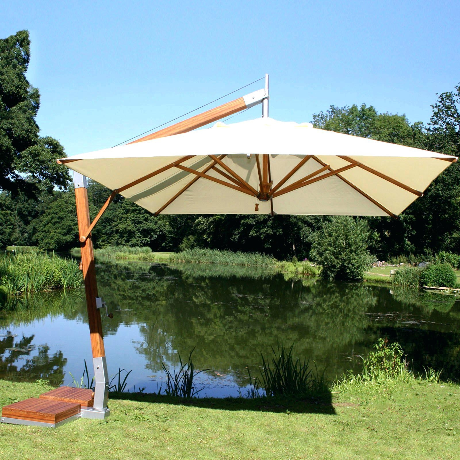 Lowes Cantilever Patio Umbrellas With Preferred Umbrella Base Cover Southern Patio Lowes Cantilever – Dlabiura (View 13 of 20)