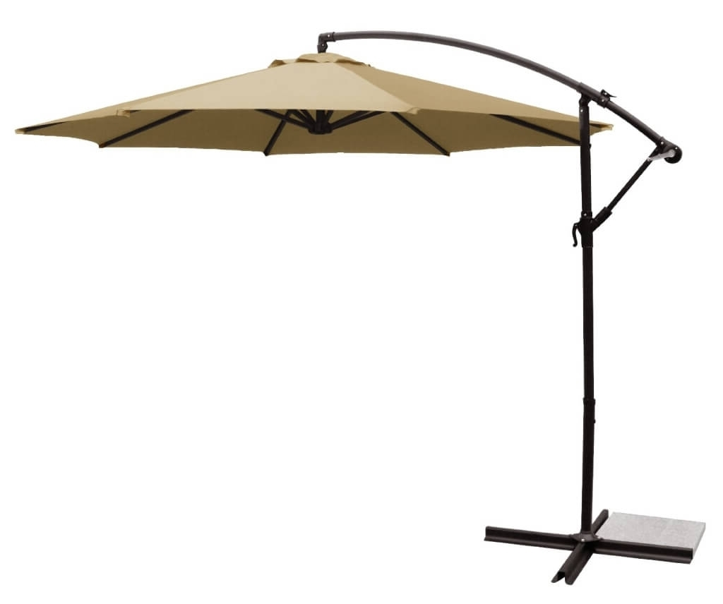 Lowes Patio Umbrellas Regarding Most Recently Released Outdoor & Garden: Smart Beige Patio Umbrella Cantilever – Best (View 16 of 20)