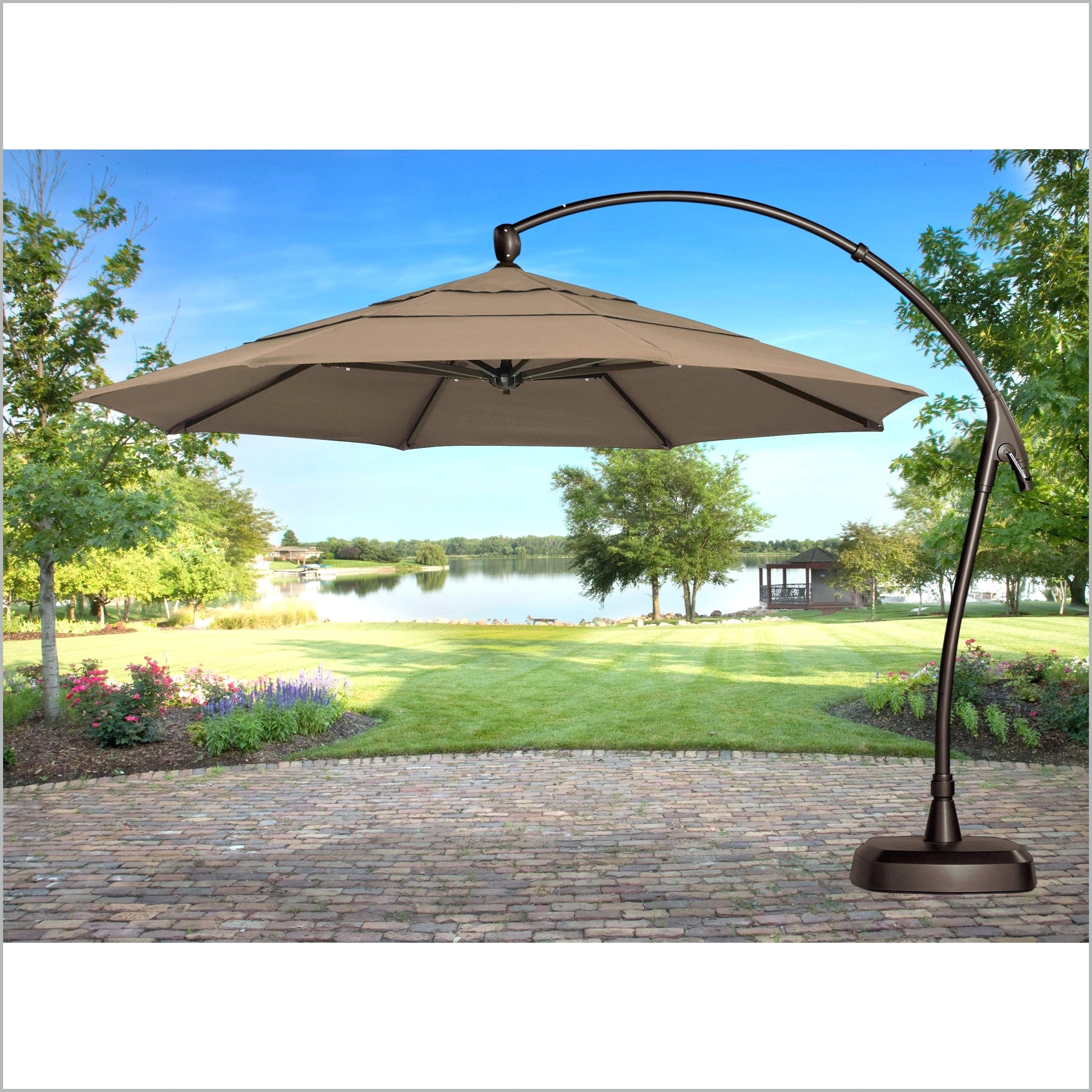 Lowes Patio Umbrellas Within 2018 Lowes Umbrella Base Patio Umbrellas With Lights Table Pics – Mrze (Gallery 8 of 20)