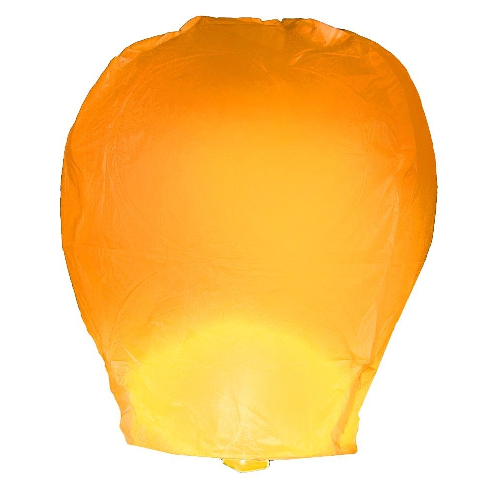Lumabase Orange Sky Lanterns (set Of 4) 74204 – The Home Depot Intended For Favorite Outdoor Orange Lanterns (View 4 of 20)