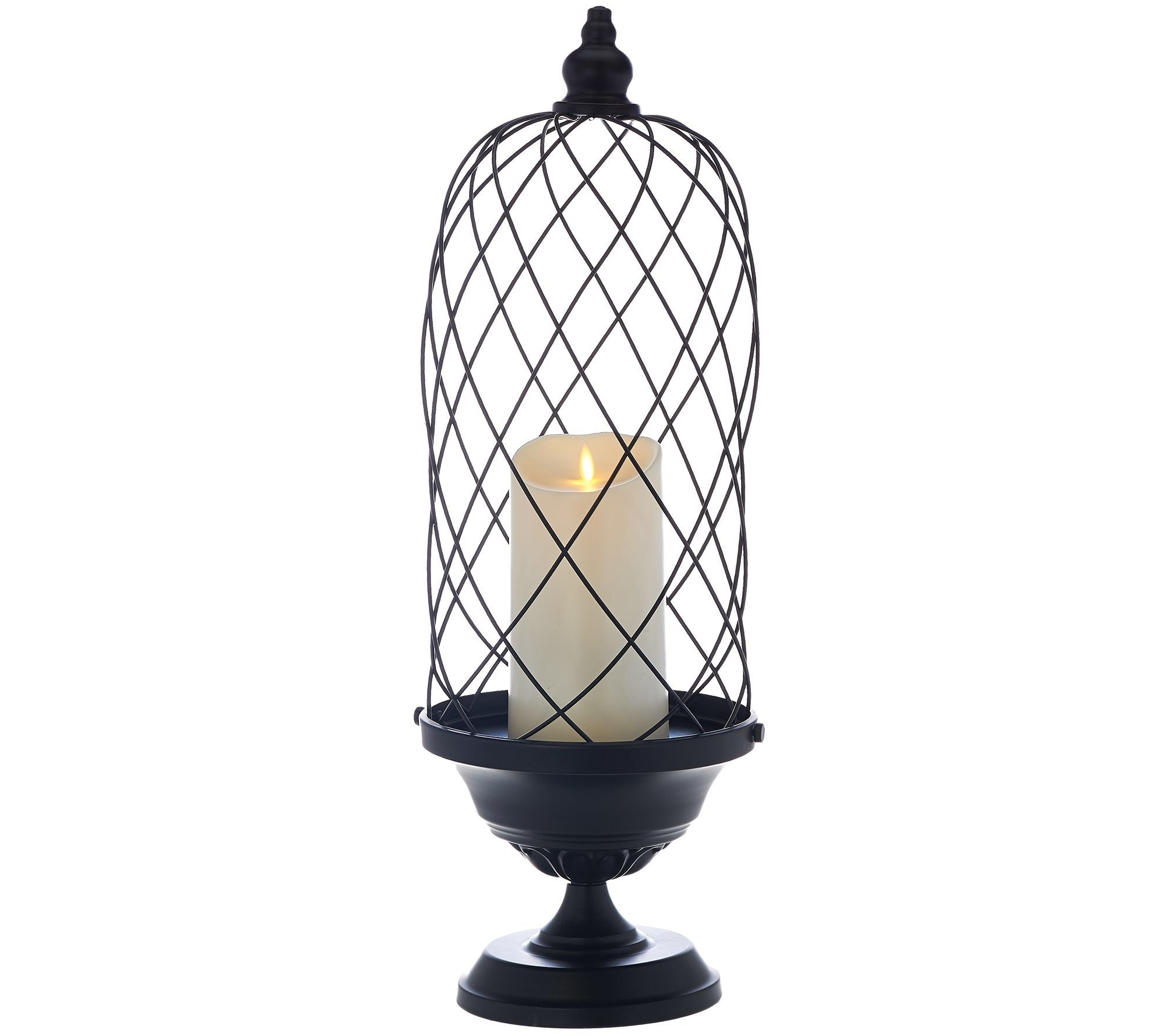"Luminara 24"" Birdcage With 7"" Indoor/outdoor Candle (Gallery 12 of 20)"