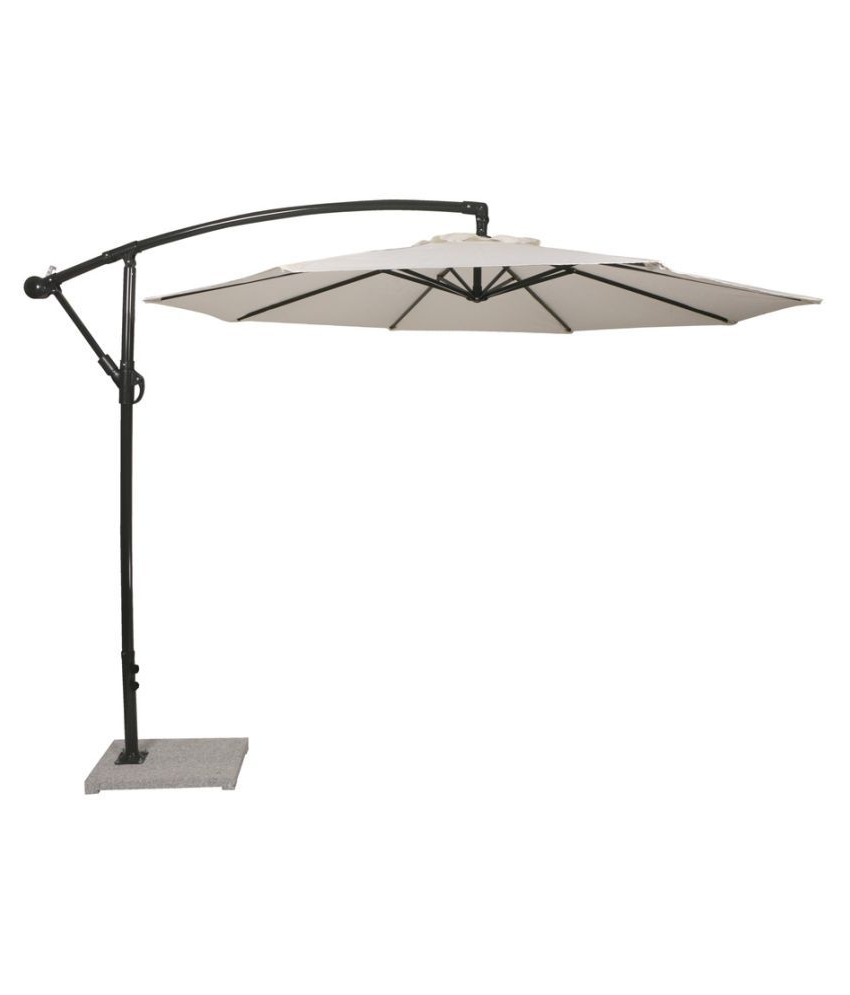 Luxury Side Pole Umbrella White – Patio Umbrella / Garden Umbrella Pertaining To Latest Patio Umbrellas With White Pole (Gallery 20 of 20)