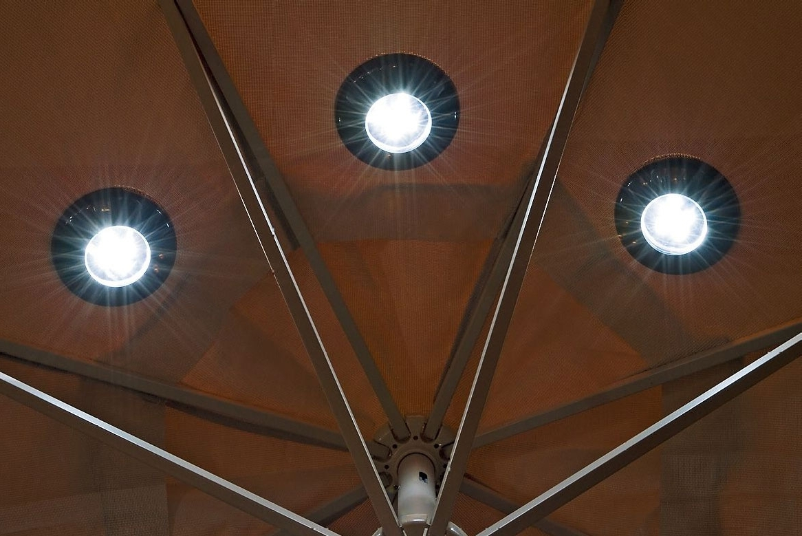 Magnetic Umbrella Solar Lights – The Green Head For Most Popular Patio Umbrella Lights (View 15 of 20)