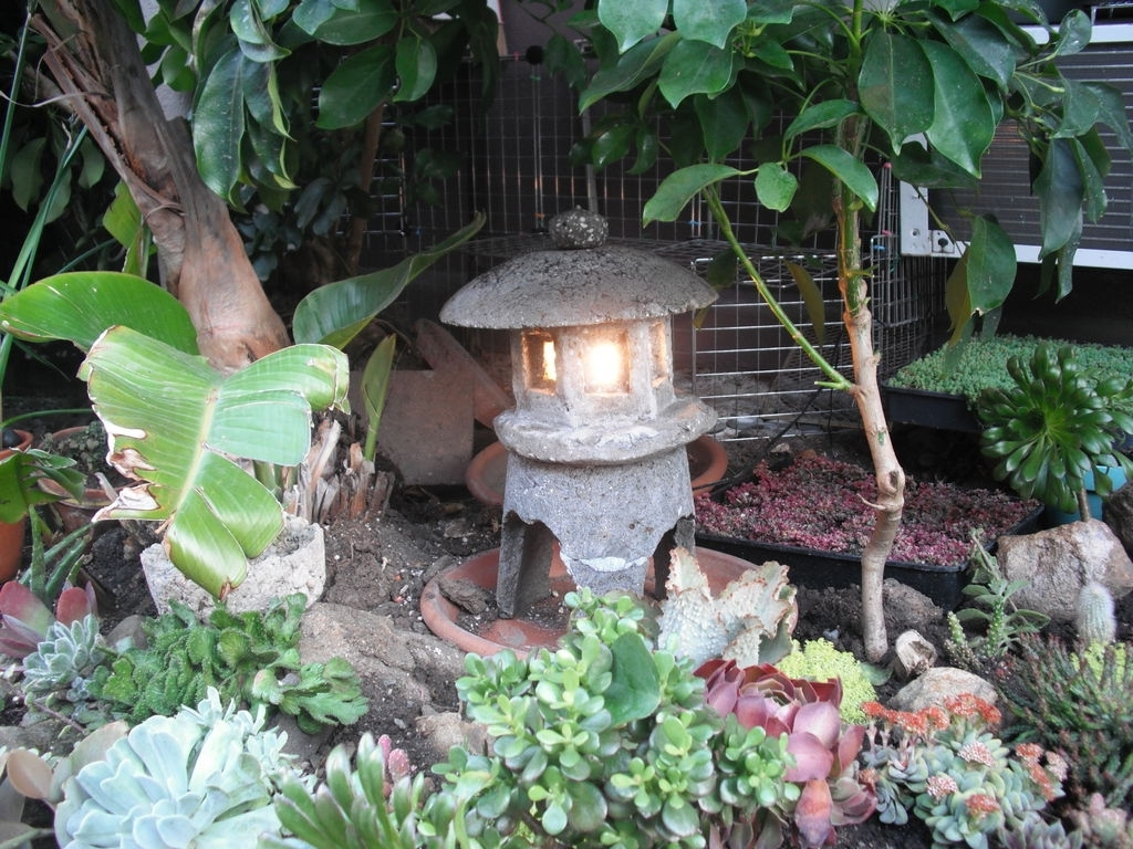 Make A Japanese Garden Lantern Out Of Hypertufa: 4 Steps (with Pictures) Pertaining To Most Current Outdoor Oriental Lanterns (View 6 of 20)