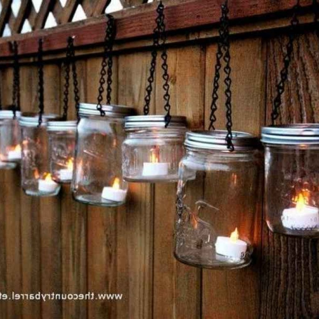 Mason Jar Lights Use Battery Operated Candles For Mason Jar Outdoor Within Most Recent Outdoor Lanterns With Battery Operated (View 7 of 20)