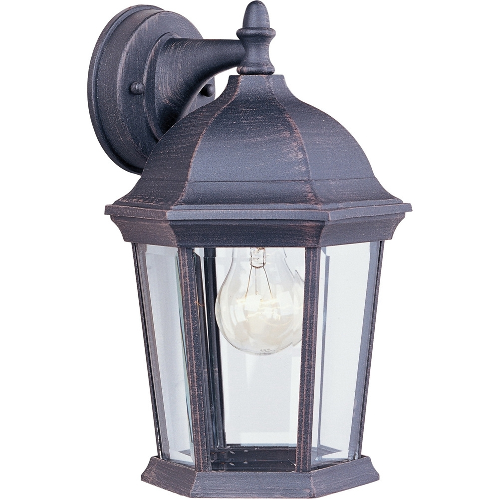 Maxim Lighting 1024rp Dimmable 1 Light Wall Lantern 60 Watt 120 Volt Intended For Most Current Rust Proof Outdoor Lanterns (View 18 of 20)