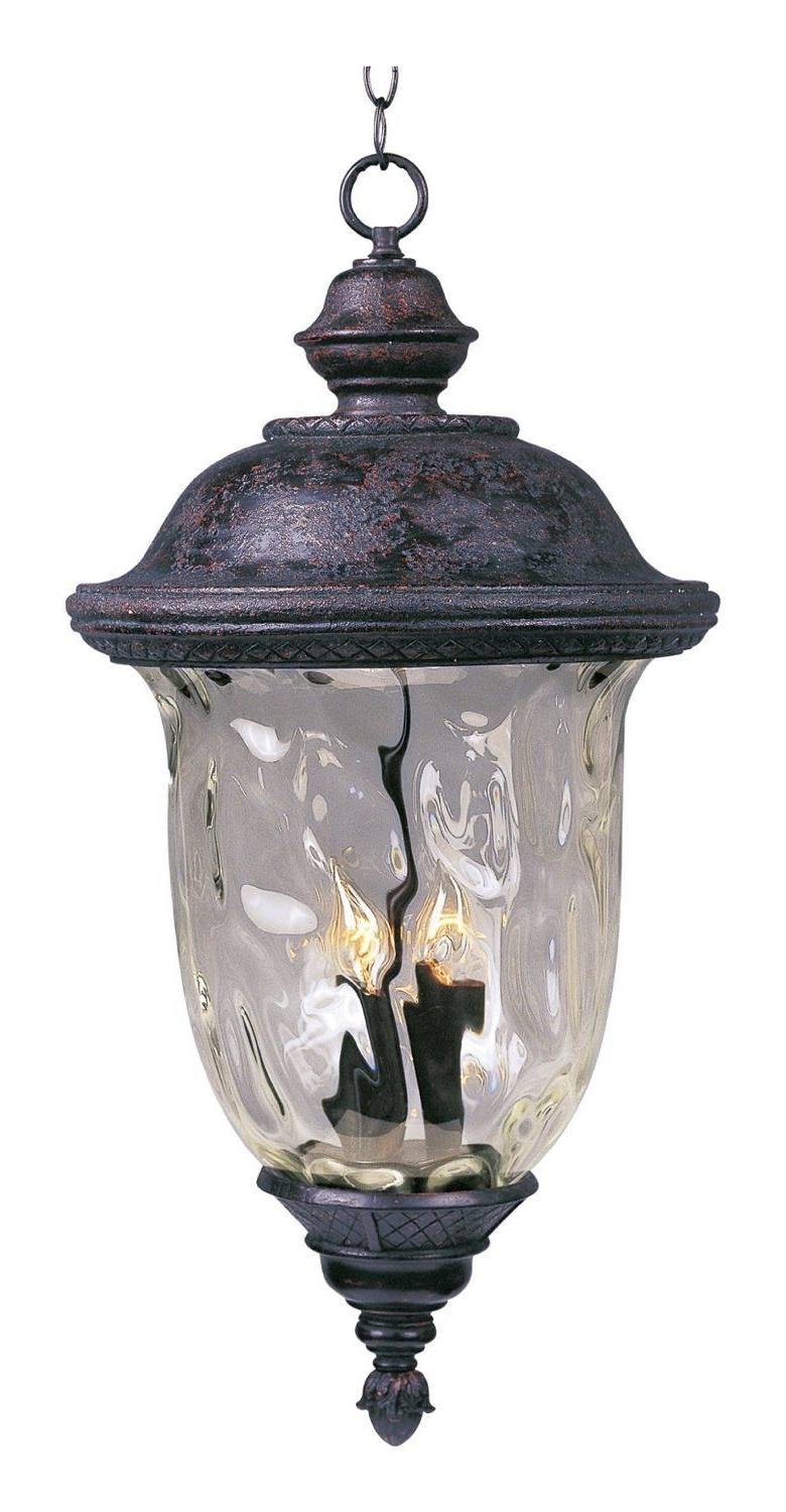 Maxim Lighting 3427Wgob Carriage House Dc 3 Light Outdoor Hanging Pertaining To Current Outdoor Lanterns At Amazon (View 5 of 20)