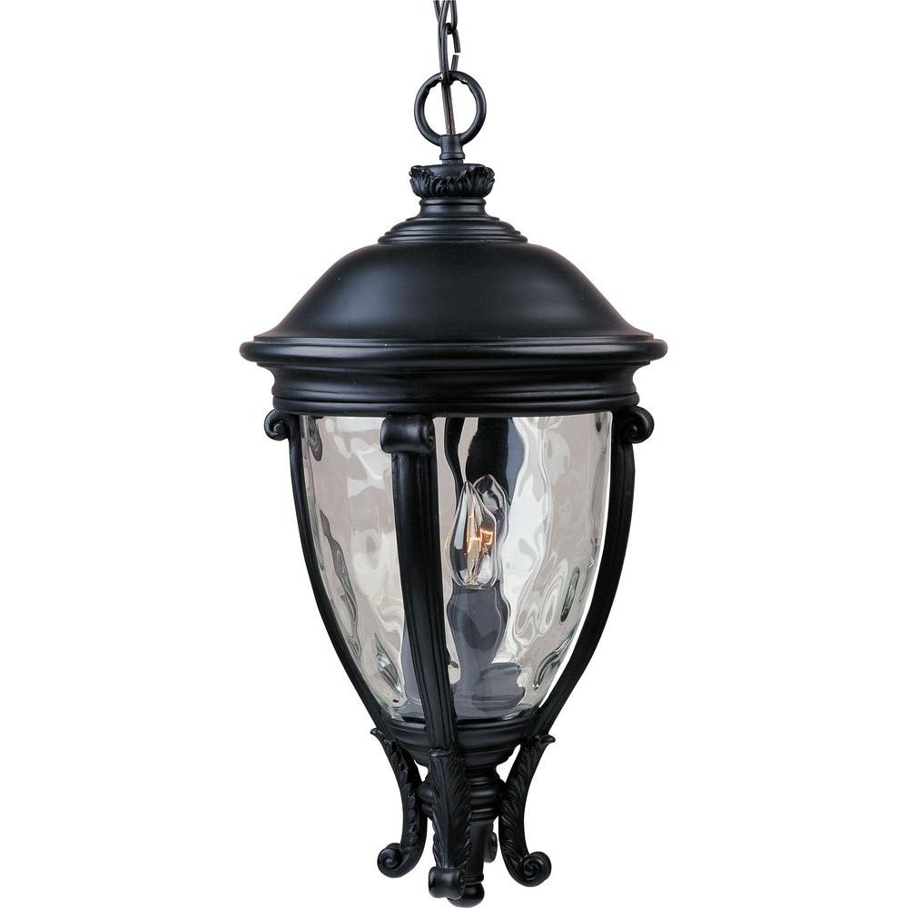 Maxim Lighting Camden Vx 3 Light Black Outdoor Hanging Lantern For Newest Outdoor Hanging Electric Lanterns (View 19 of 20)