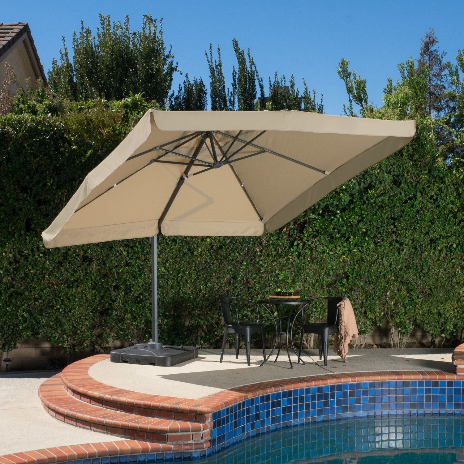 Mendon 10' Square Cantilever Umbrella (View 8 of 20)