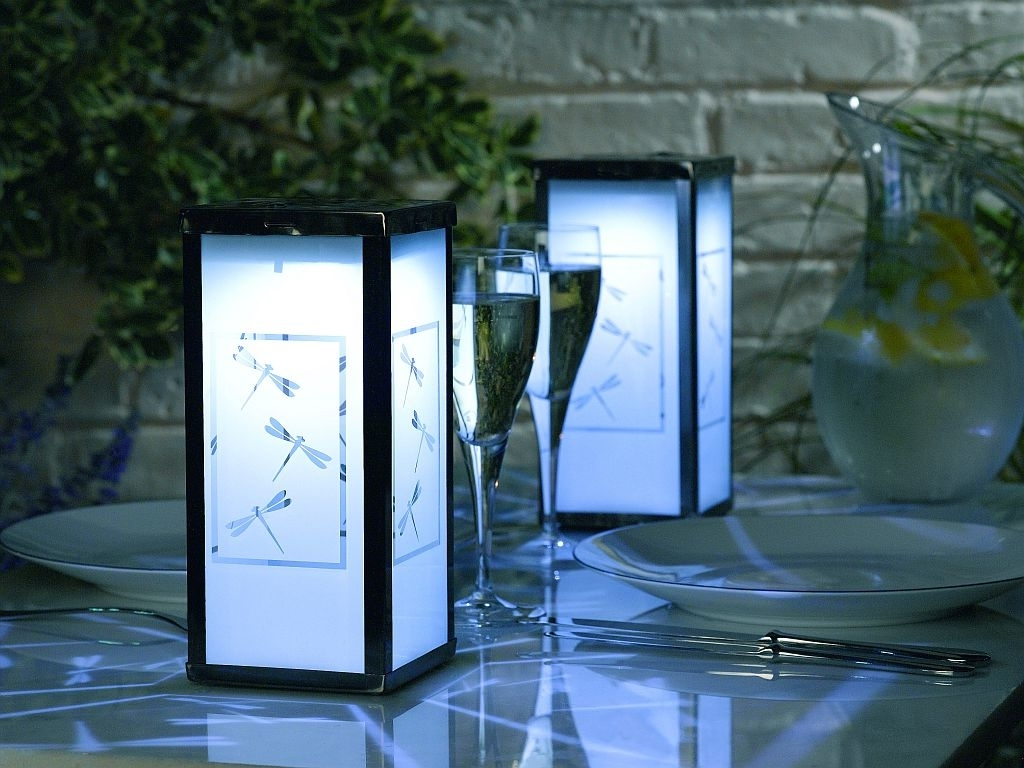 Modern Solar Outdoor Lanterns : Life On The Move – Solar Outdoor Pertaining To Popular Outdoor Lanterns For Tables (View 5 of 20)