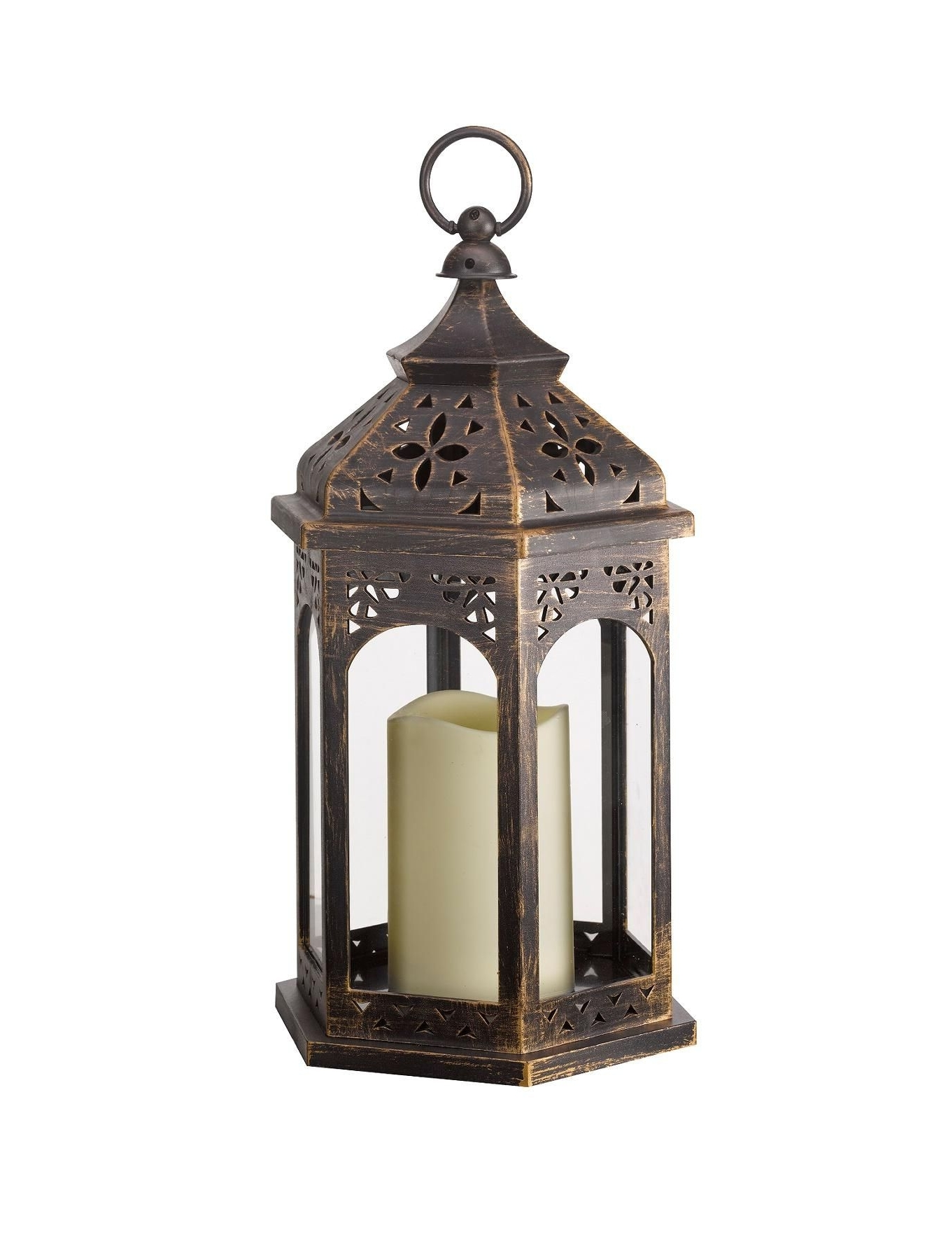 Moroccan And In Outdoor Lanterns With Battery Operated Candles (Gallery 6 of 20)