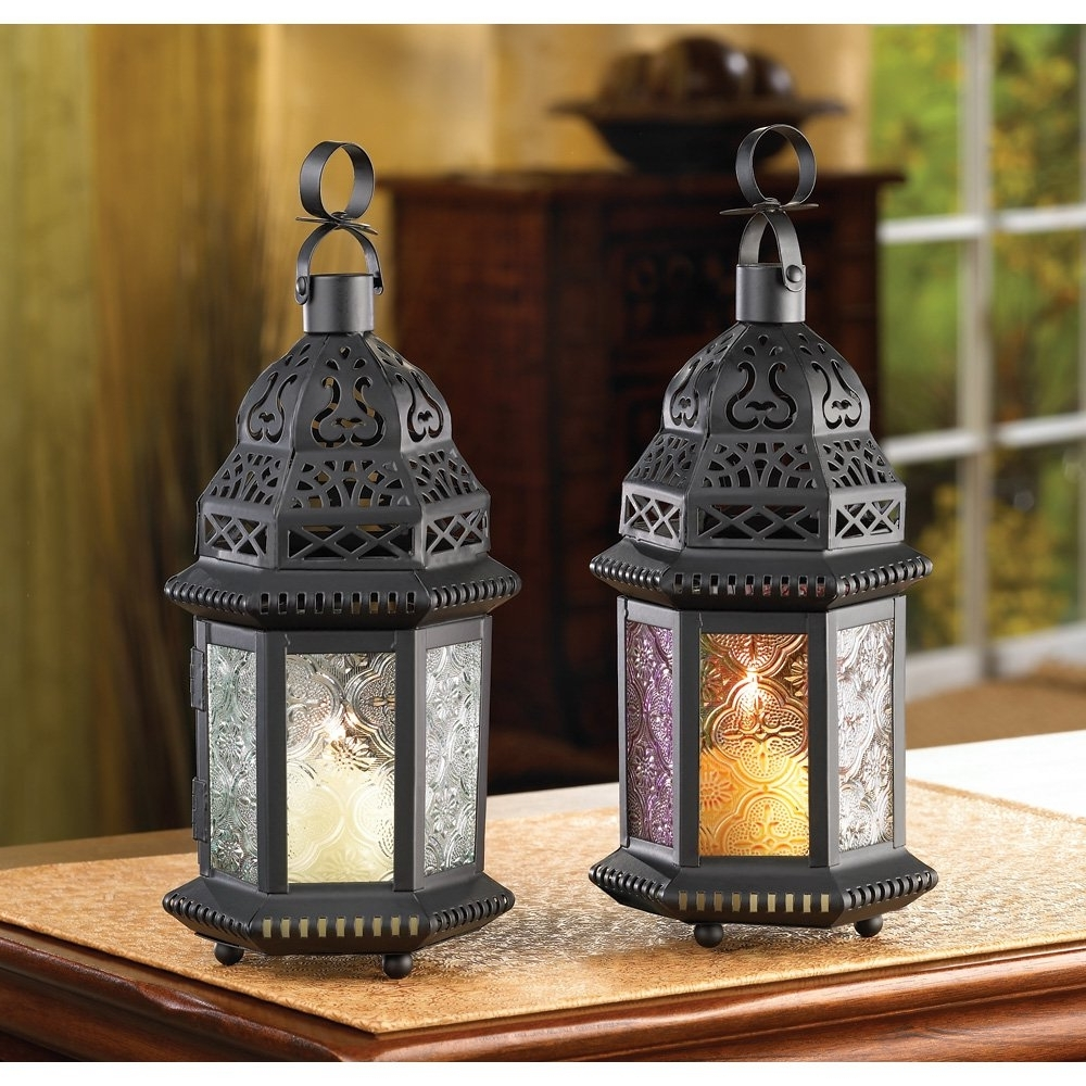 Moroccan Lantern Decor, Rustic Lamp Decorative Lanterns For Candles With Current Outdoor Lanterns For Tables (View 6 of 20)