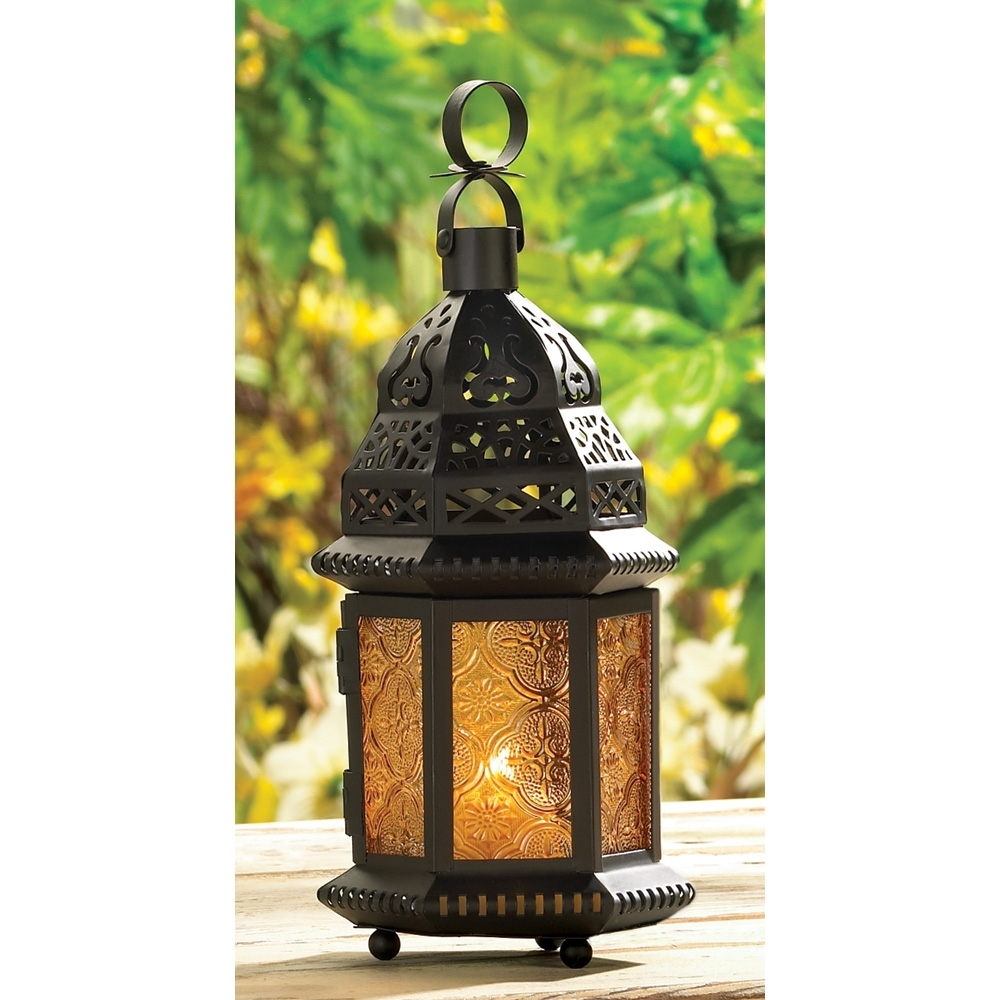Moroccan Lanterns, Candle Holders, & More Throughout Current Outdoor Glass Lanterns (View 9 of 20)