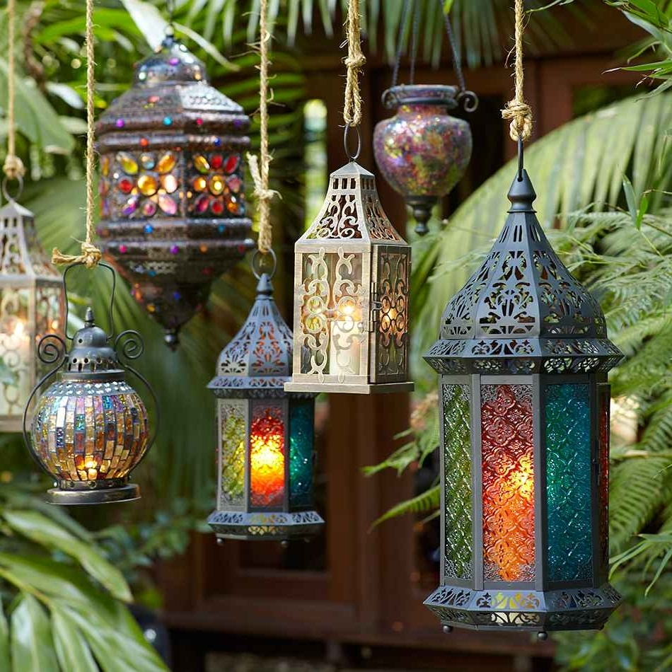 Moroccan Outdoor Lanterns Pertaining To Most Popular Hanging Lanterns Help A Free Spirited Sagittarius Turn Any Space For (View 7 of 20)