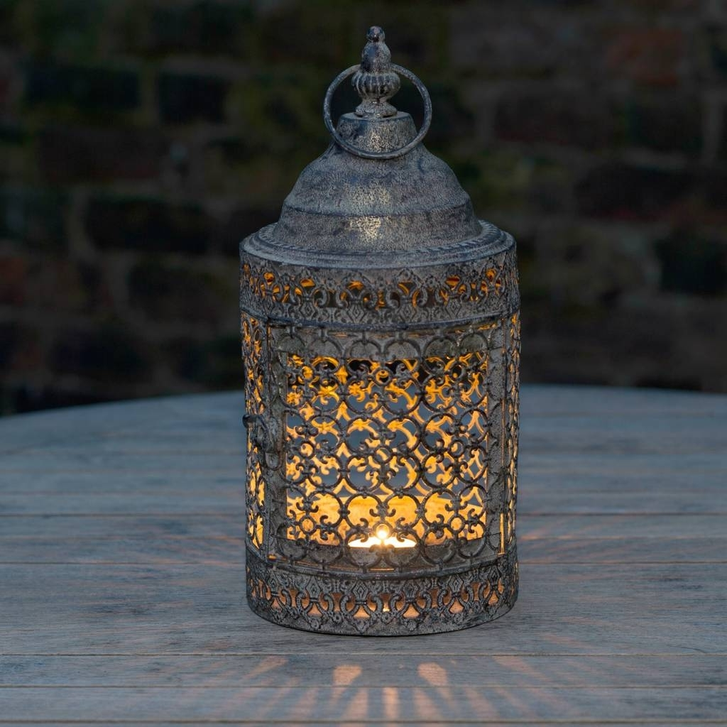 Moroccan Outdoor Lanterns Regarding Most Current Moroccan Style Lattice Candle Lanternthe Flower Studio (View 8 of 20)