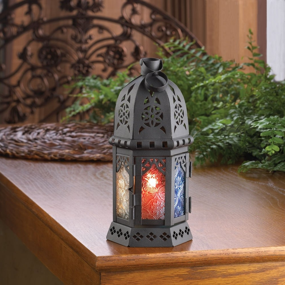 Moroccan Outdoor Lanterns Within 2019 Moroccan Lantern Candle, Iron Outdoor Lanterns Moroccan Decor (View 11 of 20)