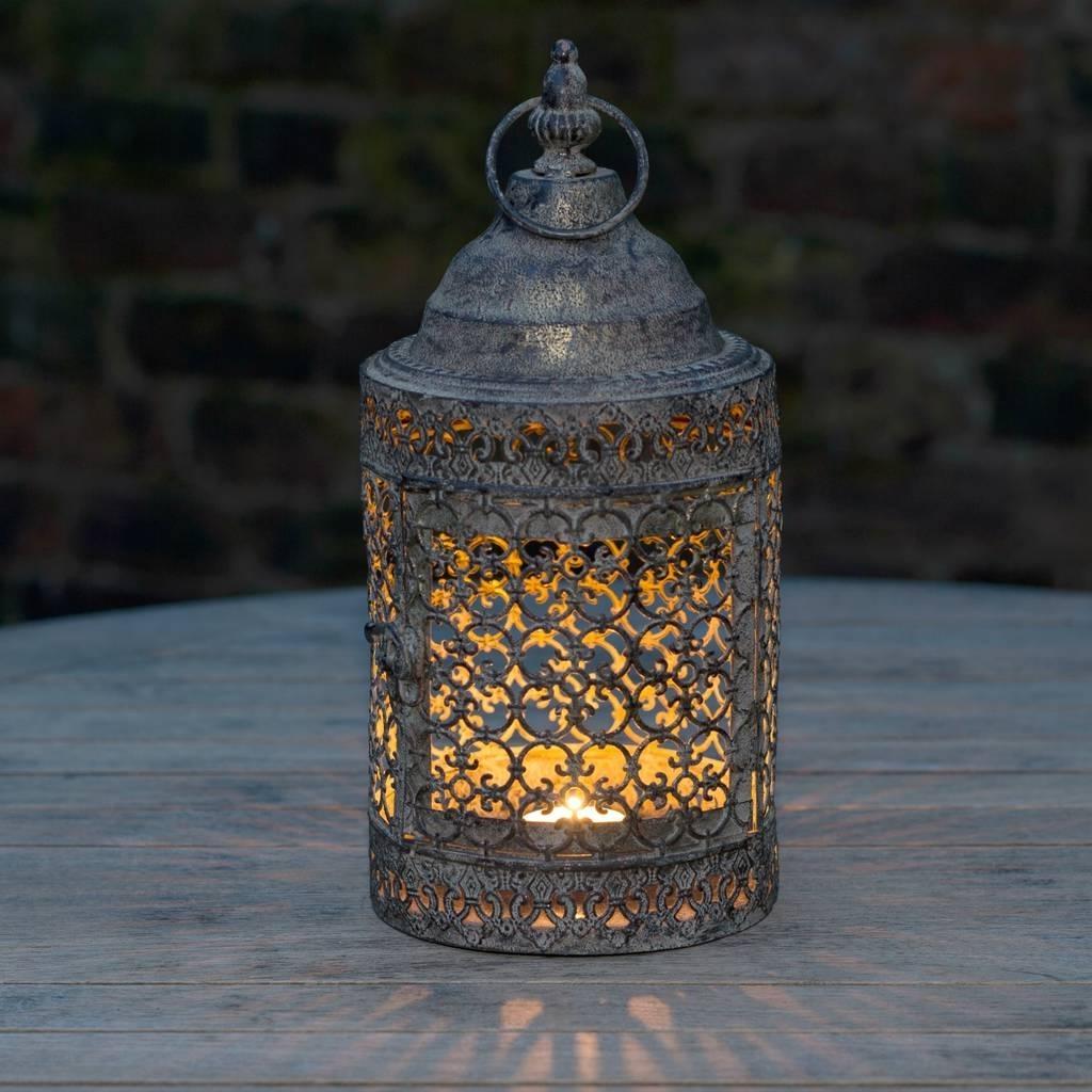 Moroccan Style Lattice Candle Lanternthe Flower Studio Regarding Best And Newest Outdoor Turkish Lanterns (View 2 of 20)