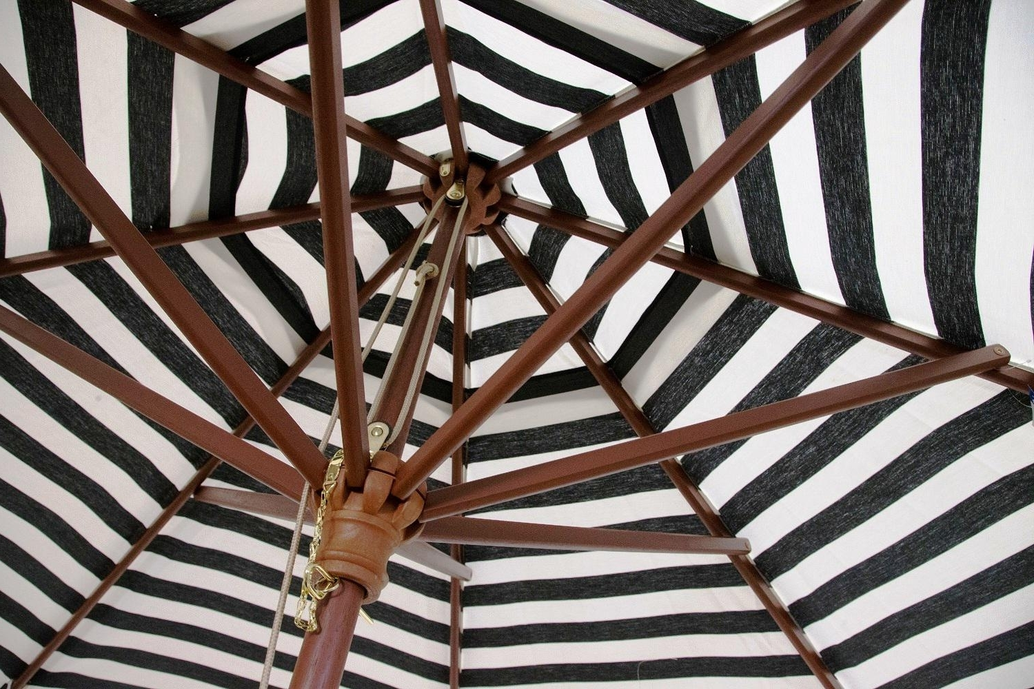 Most Current Black And White Striped Patio Umbrellas Inside Black And White Striped Outdoor Patio Umbrella — The Mebrureoral (View 11 of 20)