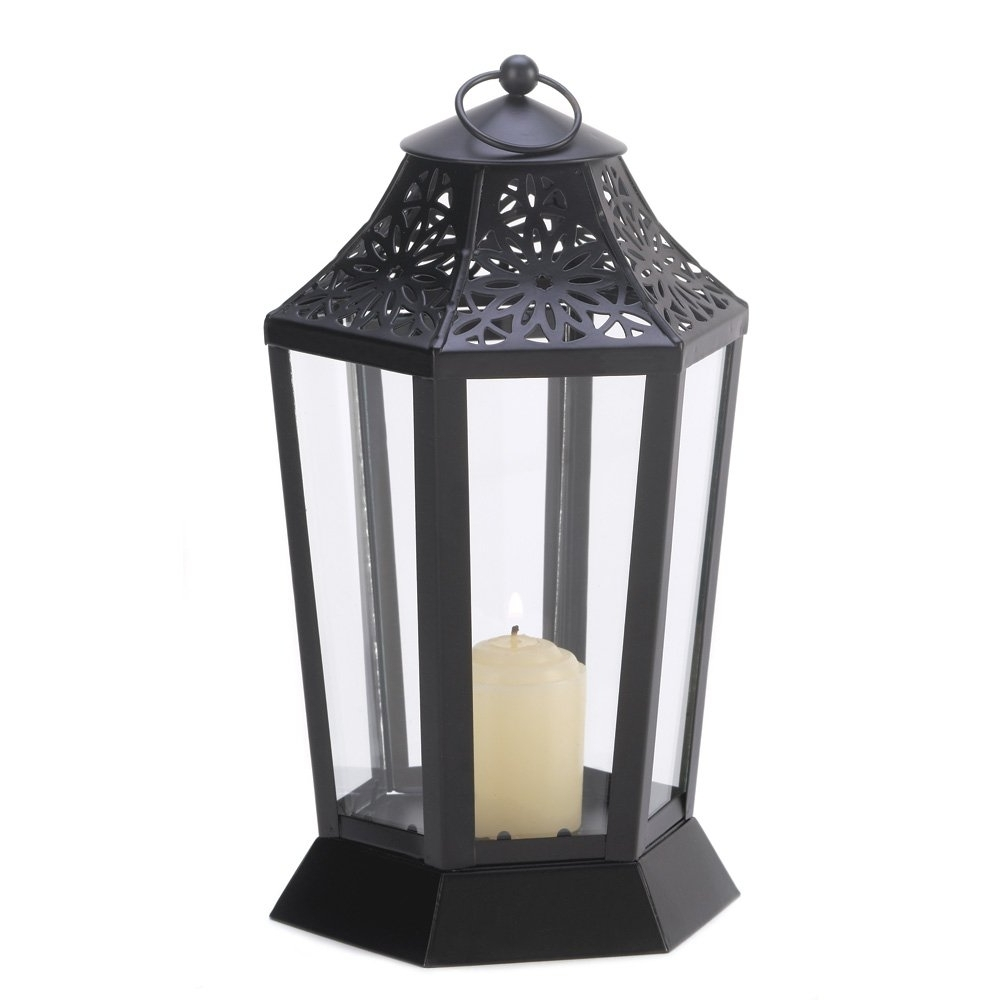 Most Current Black Candle Lantern, Decorative Outdoor Metal Candle Lanterns Intended For Black Outdoor Lanterns (View 12 of 20)