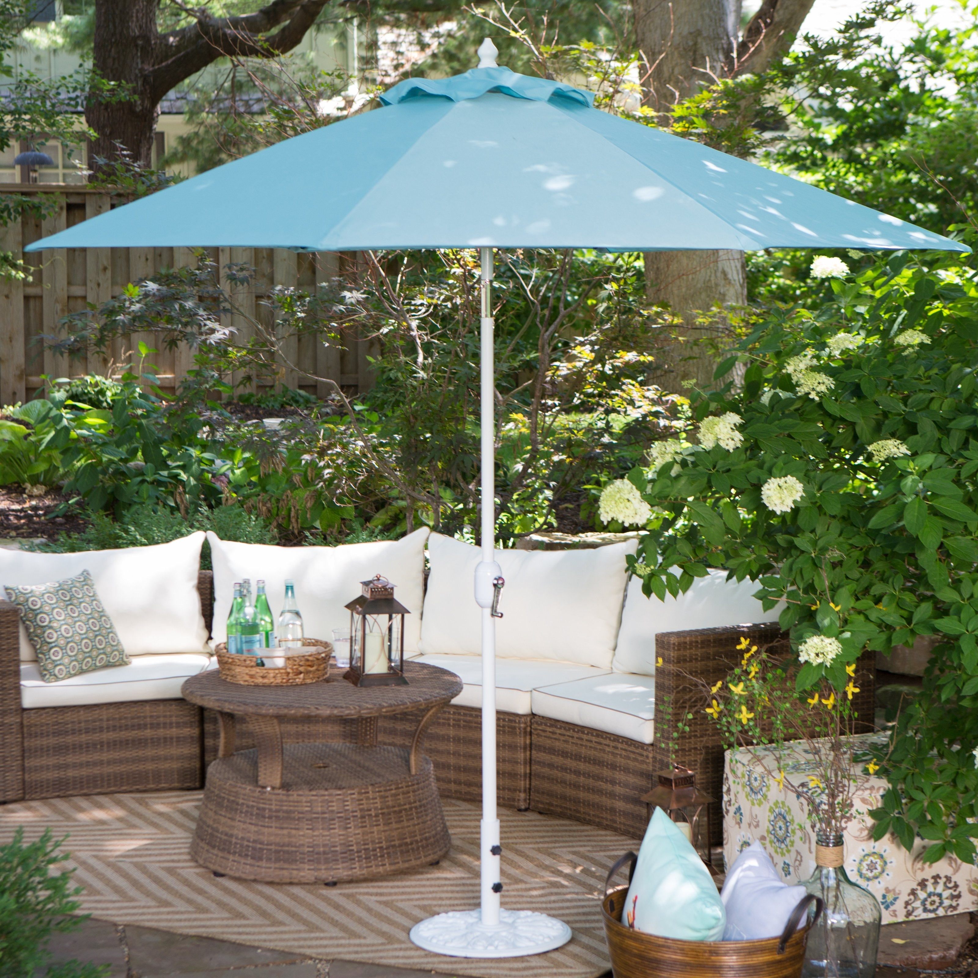 Most Current European Patio Umbrellas Throughout Coral Coast 75 Lb (View 12 of 20)