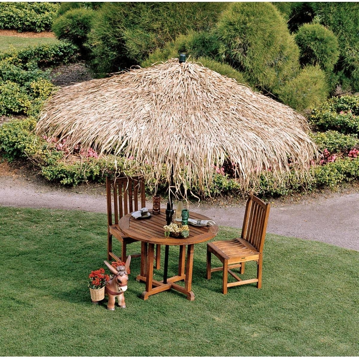 Most Current Exotic Patio Umbrellas In Tiki Hut Structures And Furniture Pieces For Homes – Outdoor Bar (View 11 of 20)