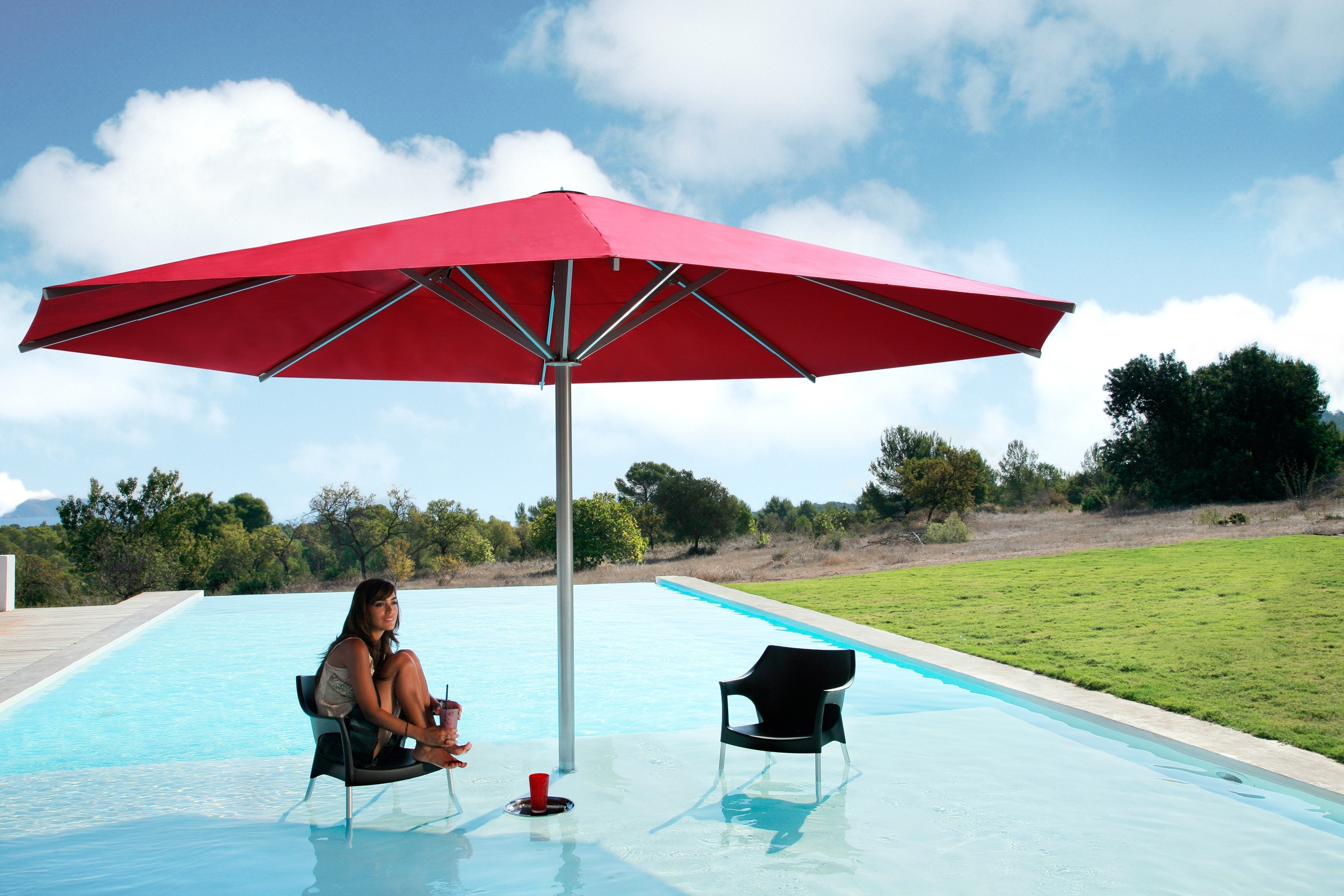Most Current Giant Patio Umbrellas Regarding Round Dimension For Giant Patio Umbrellas (View 13 of 20)