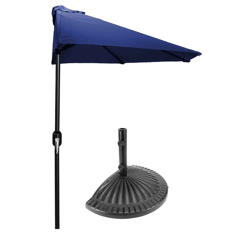 Most Current Half Patio Umbrellas With Patio Half Umbrella 9 Ft. Diam (View 19 of 20)