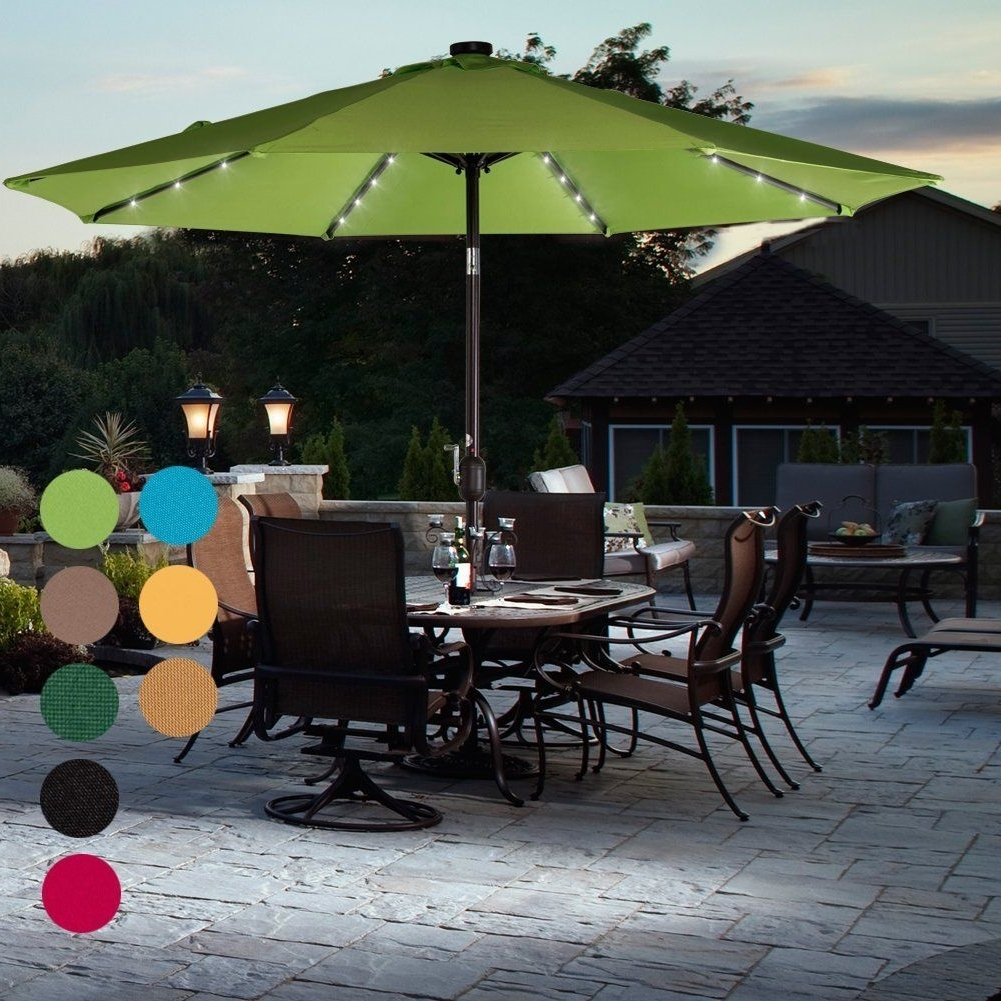Most Current Lighted Patio Umbrellas Regarding If You're Looking To Add A Little Light And Ambience To Your Next (View 10 of 20)