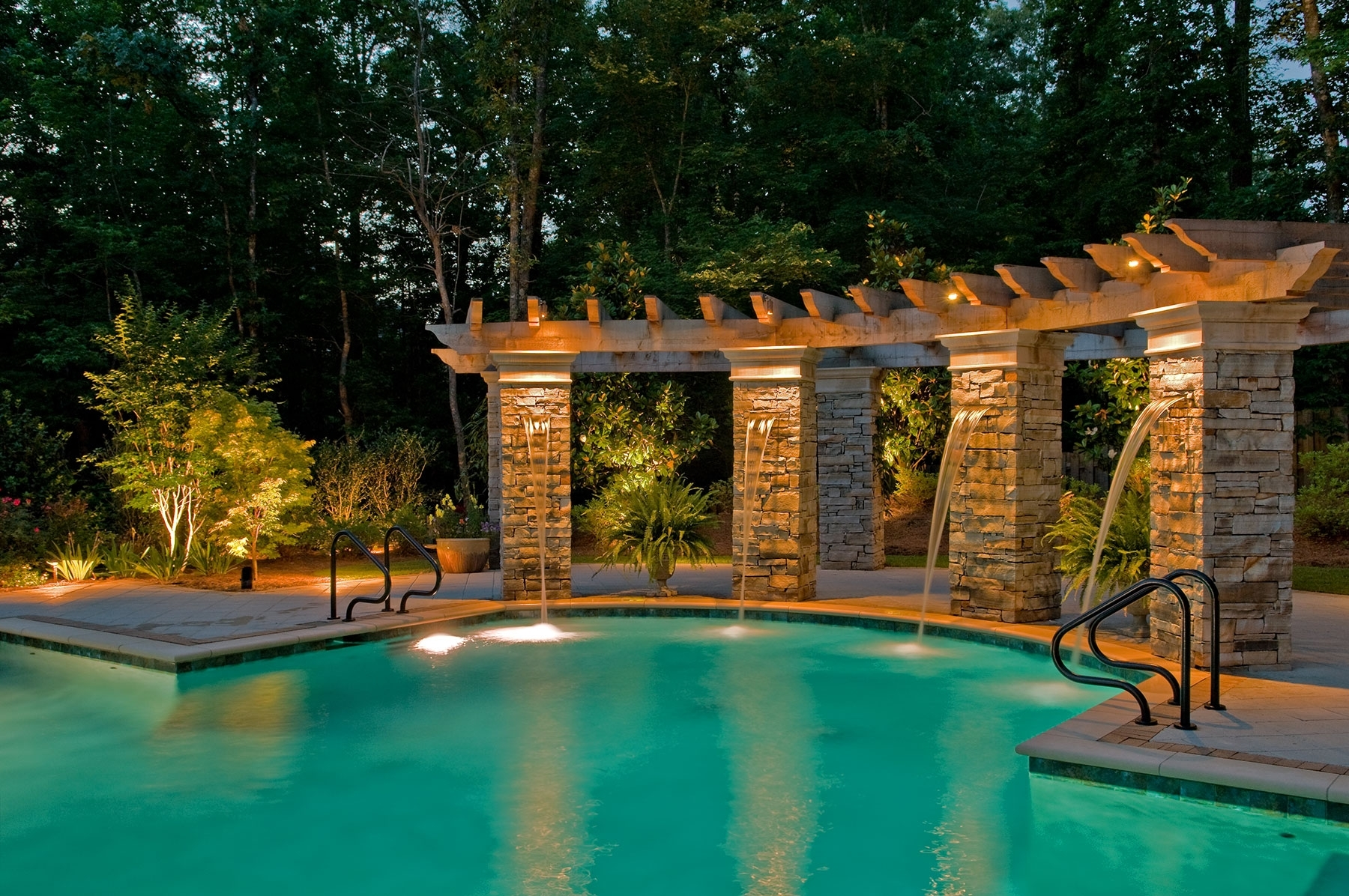 Most Current Outdoor Lanterns For Poolside In Outdoor Lighting Perspectives Of North Fort Worth Provides Pool Lighting (View 5 of 20)