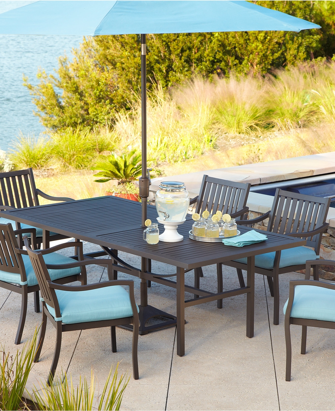 Most Current Patio: Awesome Patio Umbrella Set Patio Furniture With Umbrella Sets Throughout Patio Dining Sets With Umbrellas (View 17 of 20)