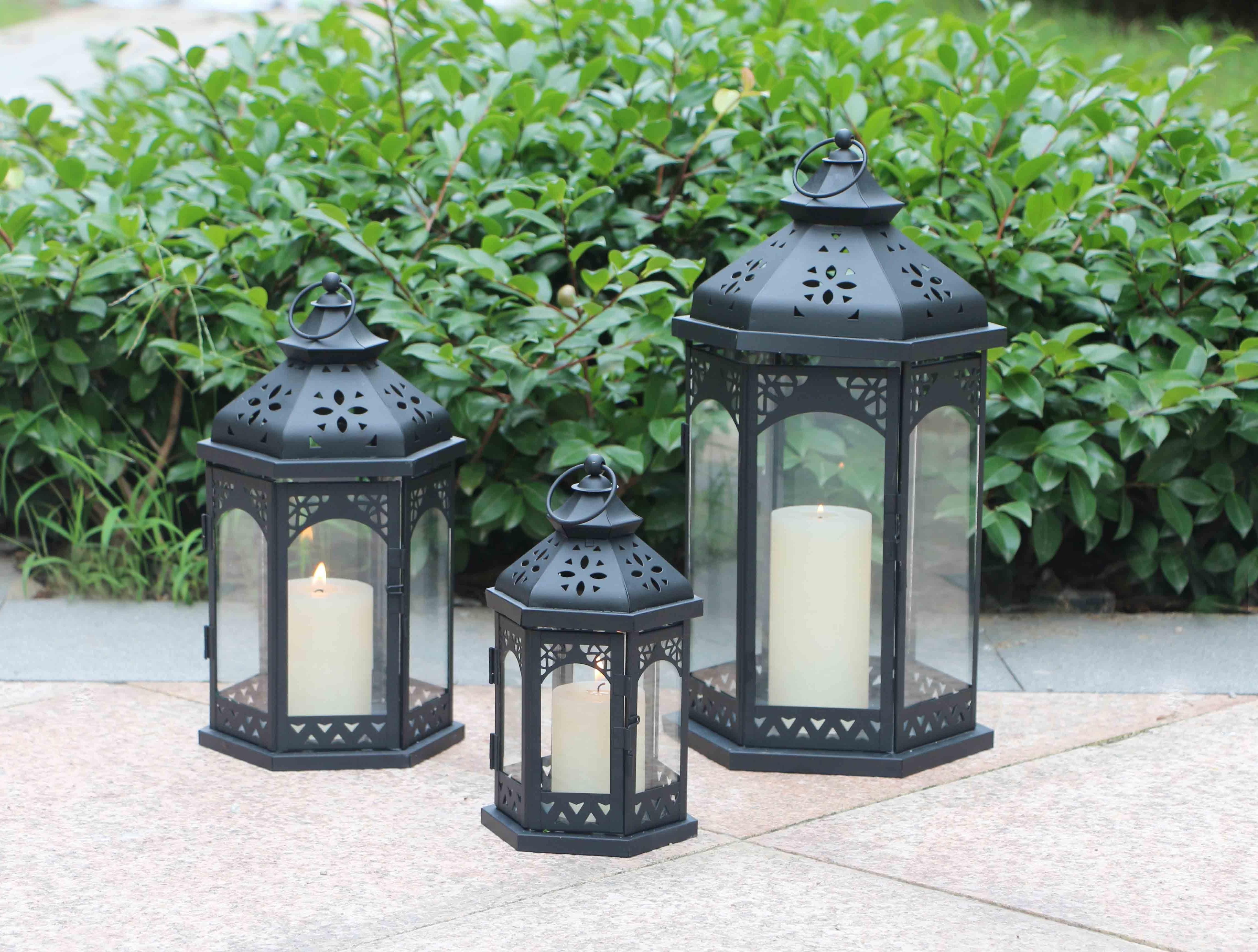 Most Current Product – Ml 967 Set Of 3 Outdoor Decorative Wholesale Moroccan With Regard To Set Of 3 Outdoor Lanterns (View 7 of 20)