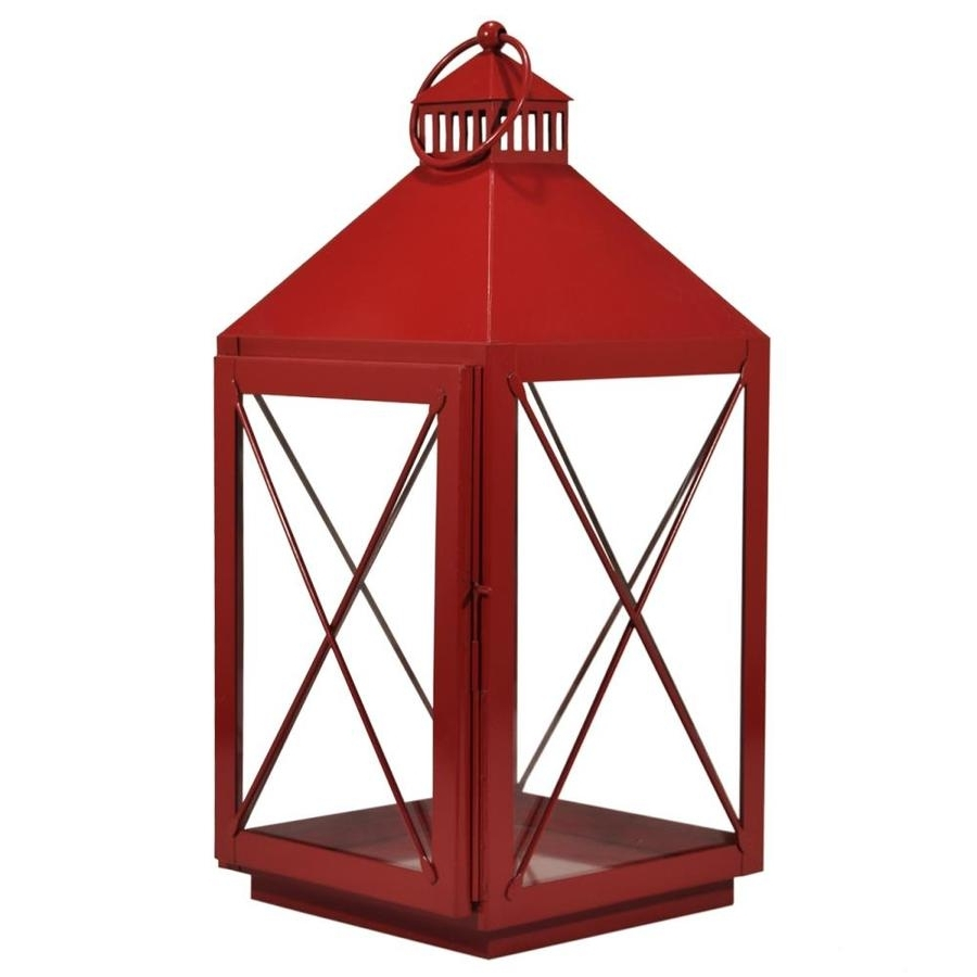 Most Current Shop Outdoor Decorative Lanterns At Lowes Pertaining To Red Outdoor Table Lanterns (View 7 of 20)
