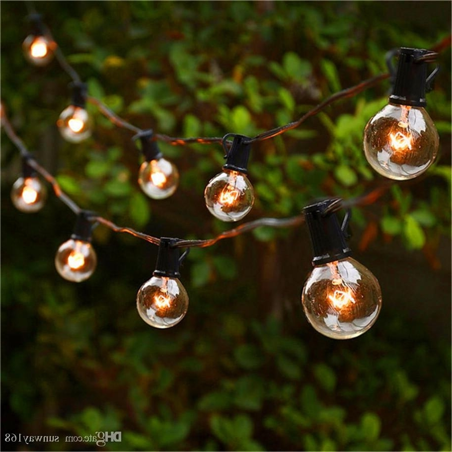 Most Current String Lights With 25 G40 Globe Bulbs Ul Listed For Indoor/outdoor Inside Outdoor Lanterns On String (View 18 of 20)