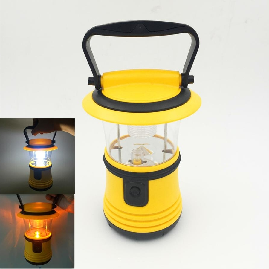 Most Current Yellow Outdoor Lanterns For 2017 Newest Portable Camping Lanterns Tent Light Portable Hanging (View 8 of 20)