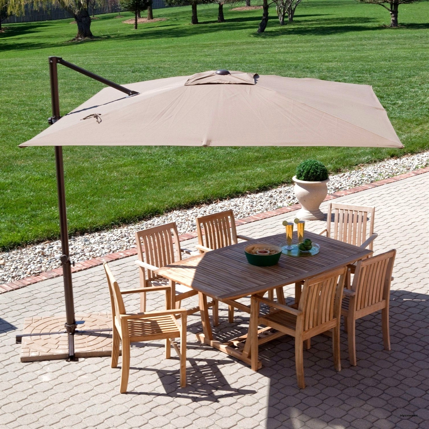 Most Popular 25 Fresh Patio Umbrella Big Lots Design Of Coral Coast 8 X 11 Ft Regarding Big Lots Patio Umbrellas (View 14 of 20)