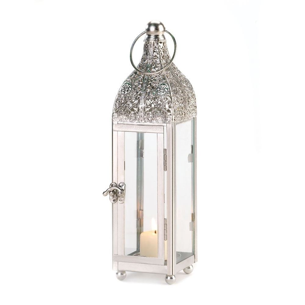 Most Popular Candle Lanterns Decorative White, Rustic Iron Small Ornate Candle Inside Outdoor Cast Iron Lanterns (View 10 of 20)
