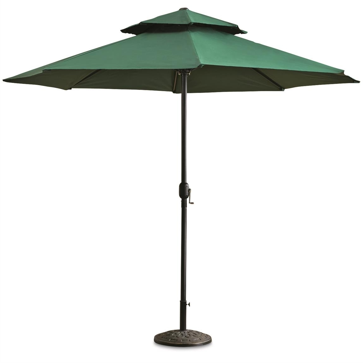 Most Popular Castlecreek 10' Double Layer Patio Umbrella – 678520, Patio Throughout Green Patio Umbrellas (View 13 of 20)