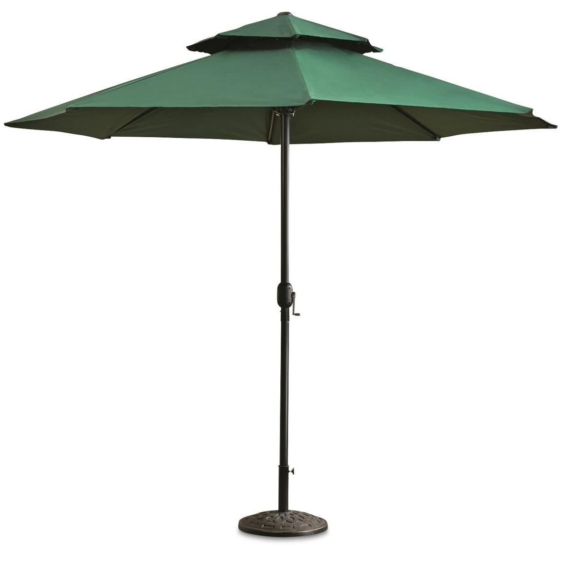 Most Popular Castlecreek 10' Double Layer Patio Umbrella – 678520, Patio Throughout Green Patio Umbrellas (View 4 of 20)