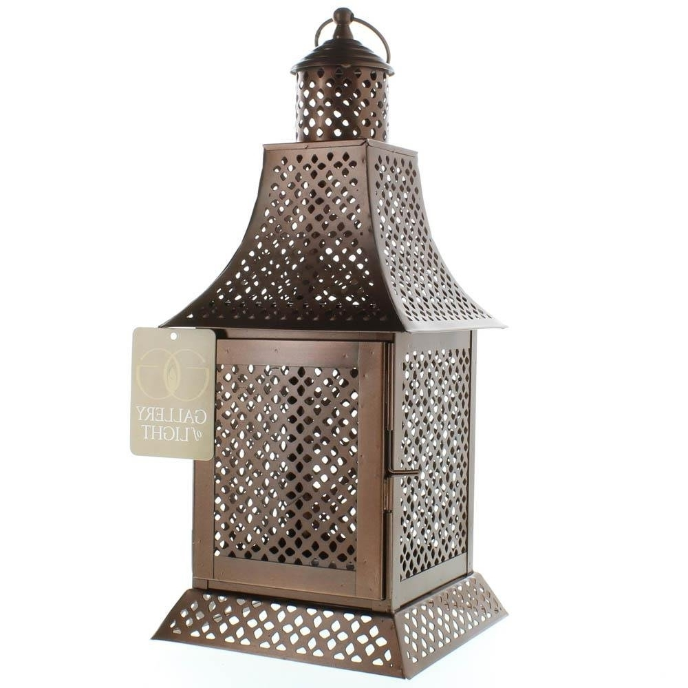 Most Popular Cheap Outdoor Lanterns For Hanging Lanterns, Enigma Gold Metal Floor House Porch Outdoor (View 13 of 20)
