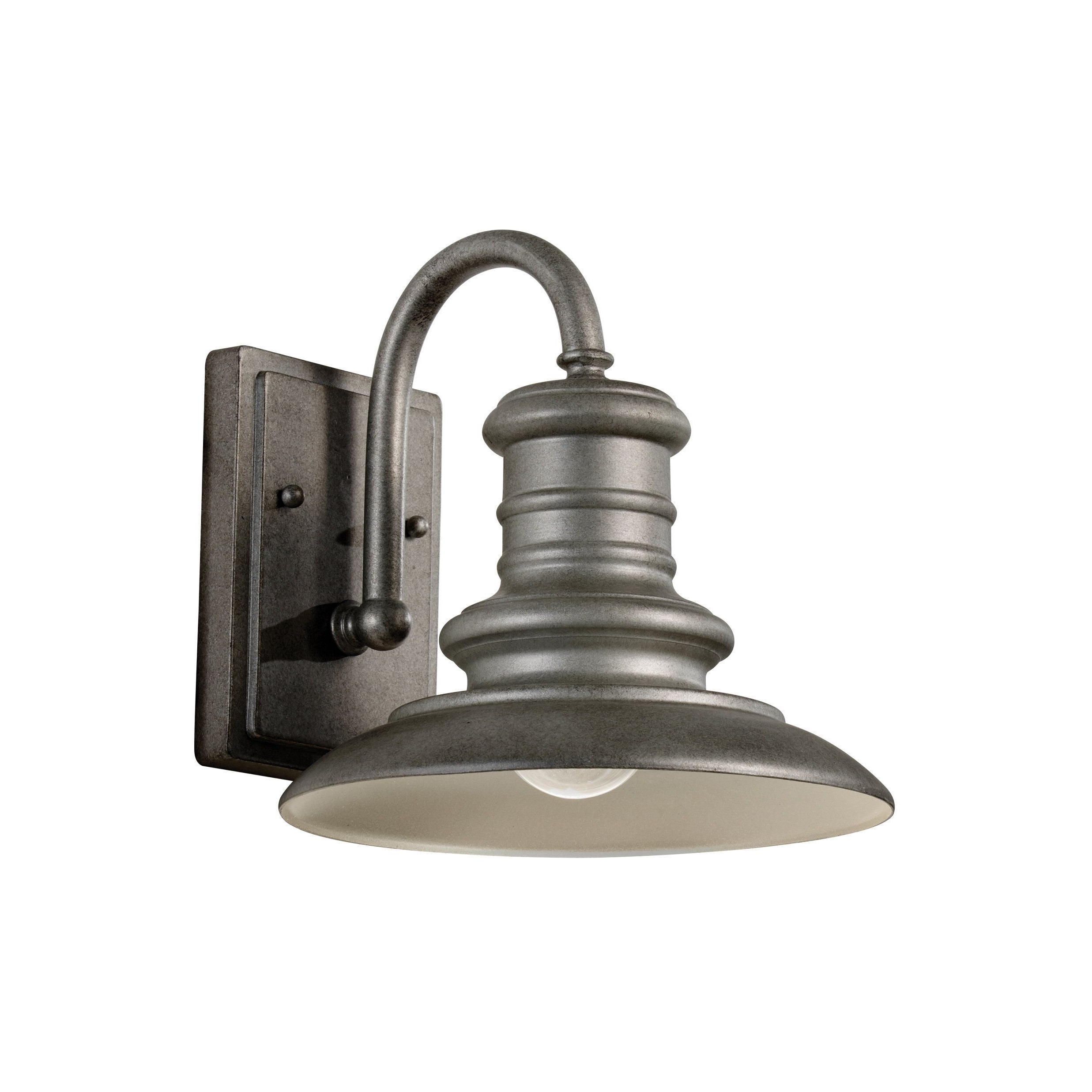 Most Popular Feiss Redding Station 1 Light Tarnished Silver Lantern (1 Light Throughout Silver Outdoor Lanterns (View 9 of 20)