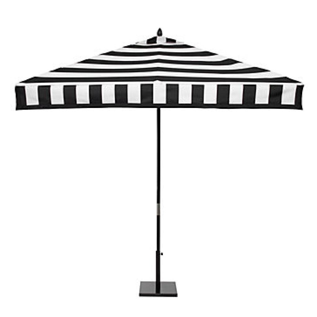 Most Popular Home Depot Outdoor Patio – Black And White Stripe Patio Umbrella With Black And White Patio Umbrellas (View 14 of 20)