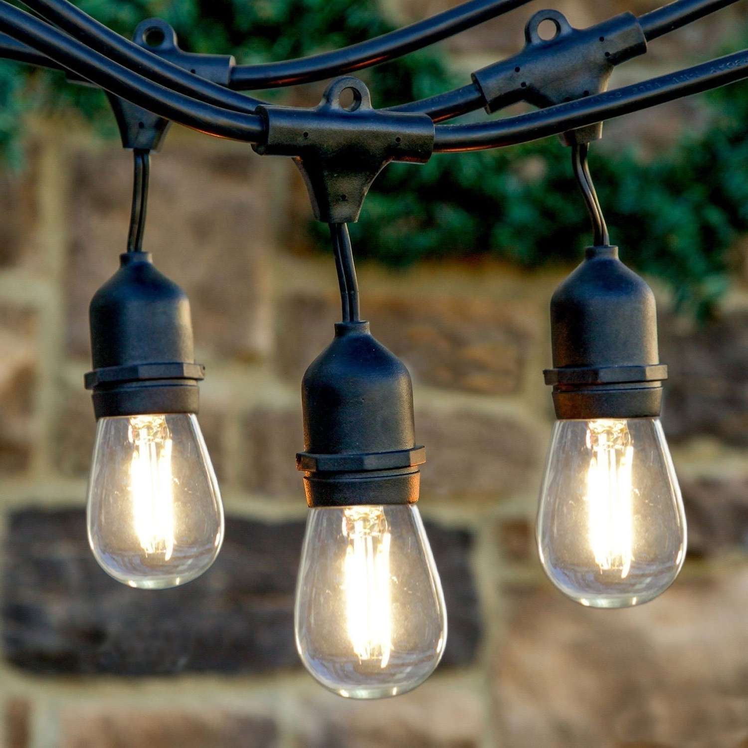 Most Popular Newhouse Lighting 48 Foot Outdoor String Lights, Led Bulbs Included Regarding Outdoor String Lanterns (View 10 of 20)