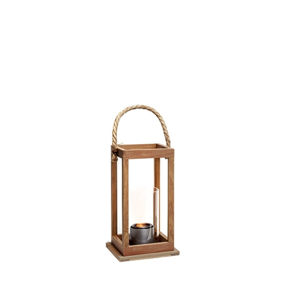 "Most Popular Northcape 17"" Sonoma Teak Wood Lantern Fire & Heat – Sunnyland In Outdoor Teak Lanterns (View 11 of 20)"